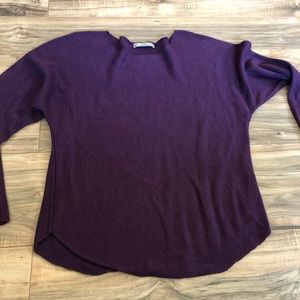Joan Vass Purple Sweater Women's